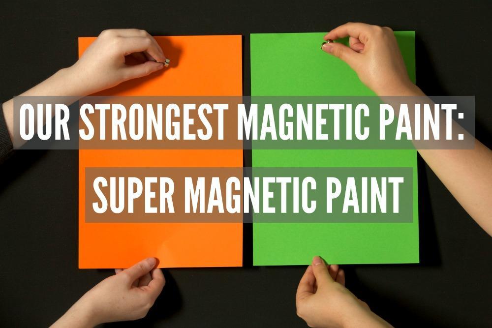 Naša najmočnejša magnetna barva napis z magneti