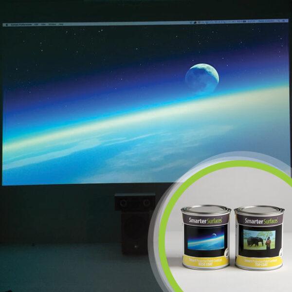 Barva za steno projektor kontrast, slika s pločevinko.